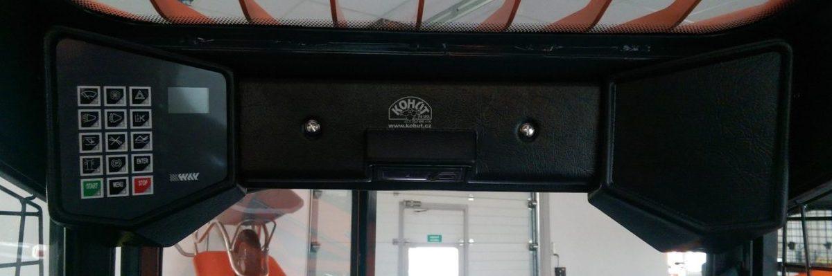 Digitální přístrojový panel nakladačů Locust