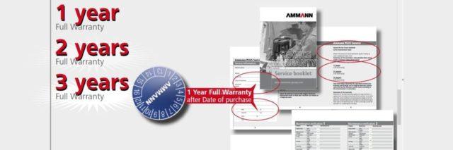Tříletá záruka na vibrační techniku Ammann