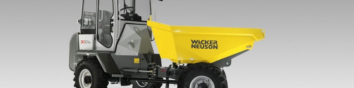 Kolový dumper Wacker Neuson 3001 už i s kabinou