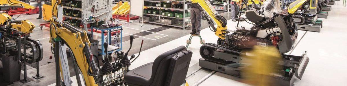 Nový závod na výrobu kompaktních stavebních strojů