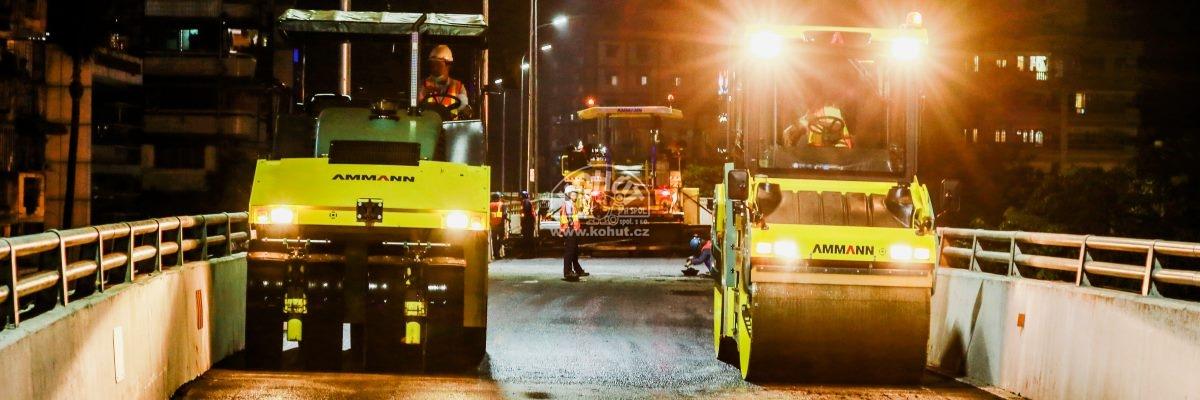 Stroje Ammann zmírňují dopravní zácpy