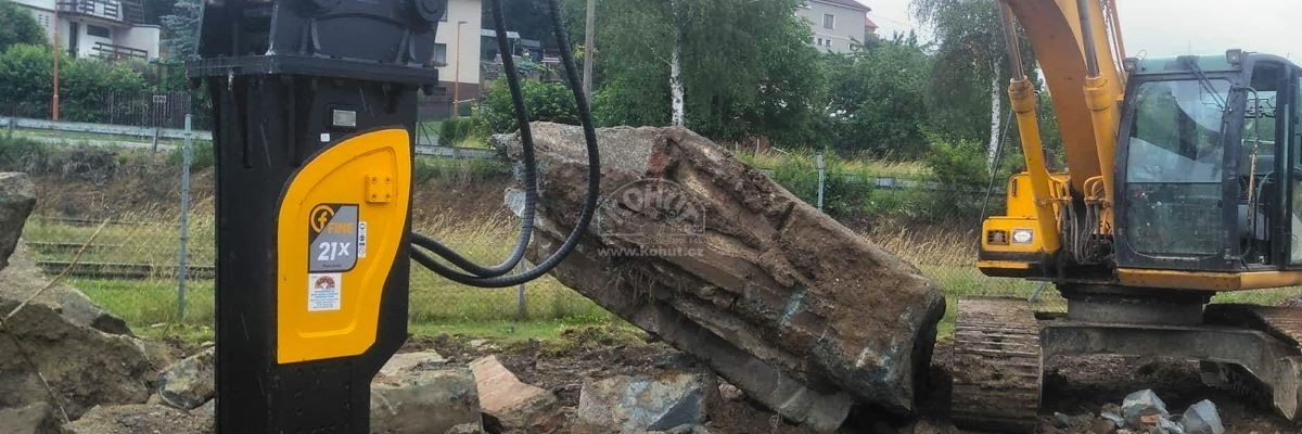 Instalace hydraulického kladiva