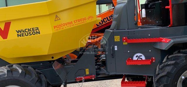 Nový dumper s nosností 6 tun