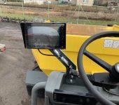 Použitý dumper DW60 – displej přední kamery